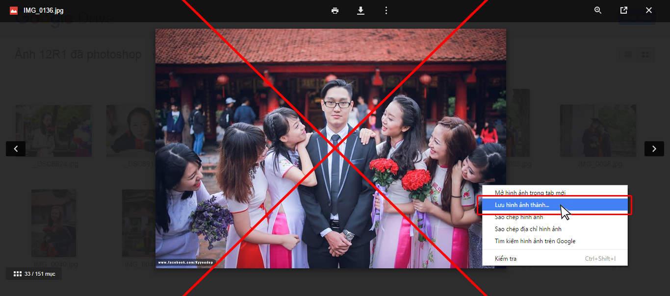 Tải ảnh từ Google Drive và đặt in ảnh tại EddyPrint