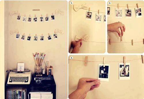Những dây ảnh polaroid xinh xắn khiến căn phòng trở nên ấm áp hơn